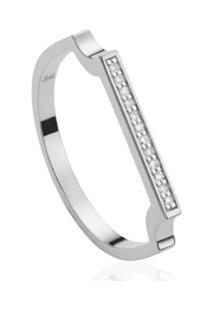 Monica Vinader Anel Signature Com Diamantes - Prateado