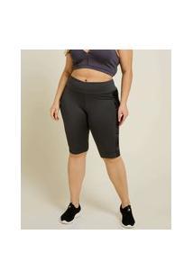 Bermuda Plus Size Feminina Fitness Recorte Marisa