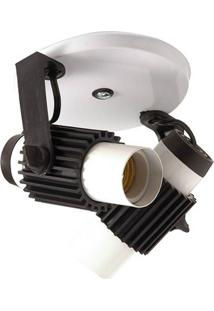 Spot Aletado 25000370 02 Lampadas Branco Startec & Co