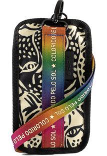 Bolsa Cafuné Rainbow Animal Print Me Leva Farm 7838046