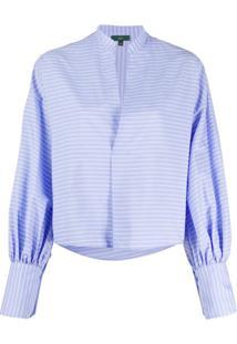 Jejia Blusa Com Listras - Azul