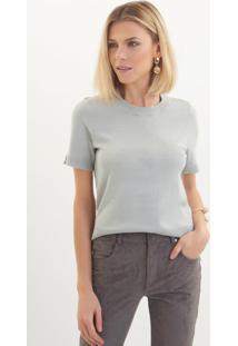 Camiseta Le Lis Blanc Jasmin Iv Tricot Verde Feminina (Pomme, Gg)