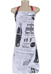 Avental Em Algodão Coca-Cola Newspaper Preto E Branco