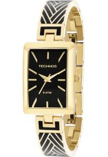 0755952f3be Okulos. Relógio Analógico Feminino Unissex Transparente Preto Dourado  Unique Technos Fashion ...