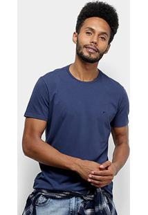 Camiseta Ellus Cotton Fine E Asa Classic Masculina - Masculino-Azul Escuro