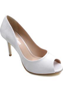 Sapato De Noiva Peep Toe Zariff Salto Fino
