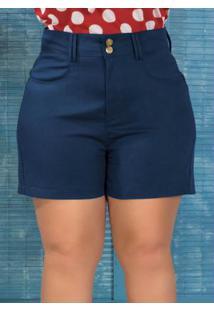 Short Em Sarja Plus Size Marguerite Marinho