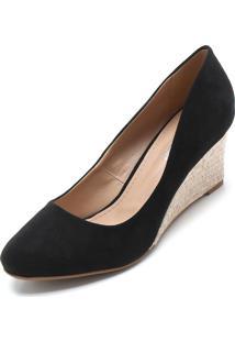 Scarpin Dafiti Shoes Anabela Preto