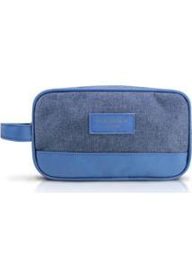 Necessaire Jacki Design Com Alça Lateral Be You - Unissex-Azul