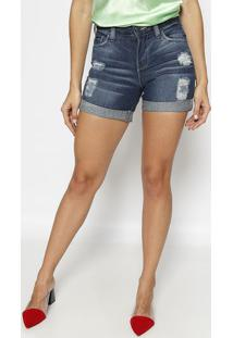 Short Jeans Destroyed - Azul Escuro- M. Officerm. Officer