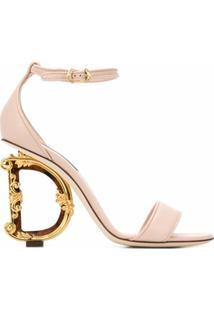 Dolce & Gabbana Sandália Com Salto Baroque D&G - Rosa