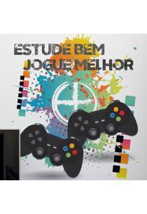Adesivo De Parede Video Game Multicolorido