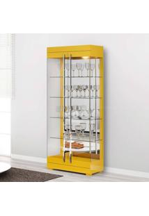 Cristaleira 2 Portas Channel Amarelo - Imcal