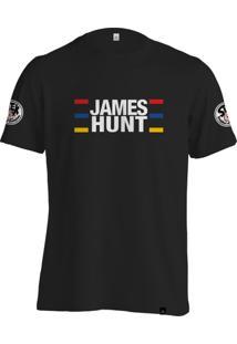 Camiseta Fórmula Retrô James Hunt Helmet - Masculino