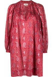 Isabel Marant Étoile Vestido Com Estampa Paisley - Vermelho
