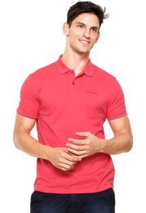 Camisa Polo Calvin Klein Jeans Piquê Rosa