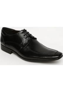 Sapato Social Em Couro Com Recortes- Pretocns