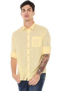 Camisa John John Reta Bolso Amarela