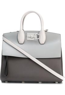 Salvatore Ferragamo Bolsa Tote The Studio - Cinza
