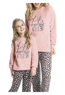 Pijama Adulto Longo Em Plush Felpudo Malwee (1000042757)