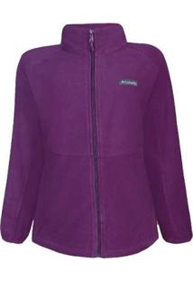 Jaqueta Columbia Basin Trail Fleece Full Zip Feminina - Feminino-Roxo