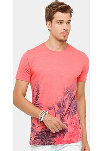 Camiseta Side Way Floral Degradê Masculina - Masculino