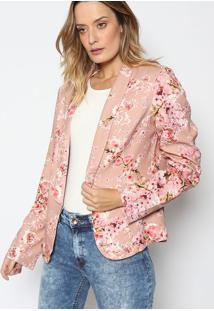Blazer Floral- Bege & Rosa Clarolez A Lez