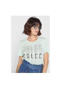 Camiseta Colcci Logo Verde