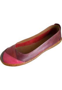 Sapatilha Scarpe Bico Redondo Vermelho