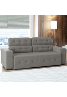 Sofá De 4 Lugares Blanc – Linoforte Moveis - Cinza