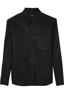 Camisa John John London Masculina (Preto, M)