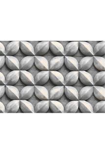 Tapete Transfer Geométrico- Cinza Escuro & Cinza- 60Tapetes Junior