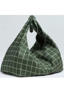 Bolsa Knot Grid-Verde/Offwhite - Un