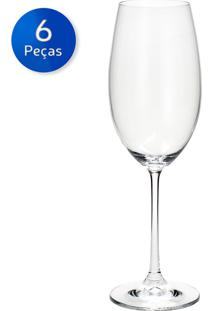 Jogo De Taças Para Vinho Branco Twiggy 460 Ml 6 Peças - Bohemia - Incolor