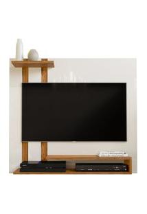 Painel Para Tv Smart Plus - Off White / Nature - Mania De Móveis