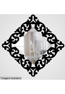 Espelho Arabesco- Espelhado & Preto- 28X28X5Cm- Cia Laser