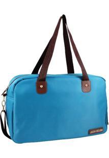 Bolsa Sacola Jacki Design Lisa Azul