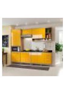 Cozinha Compacta Sicília 11 Pt 3 Gv Argila E Amarela