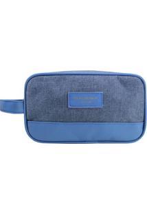 Nécessaire Com Tag E Recorte- Azul Escuro & Azul- 14Jacki Design