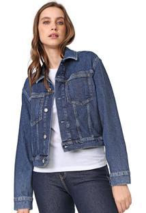 Jaqueta Jeans Calvin Klein Jeans Ômega Azul