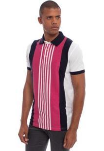 Camisa Polo Aleatory Listrada Australian Masculina - Masculino-Rosa