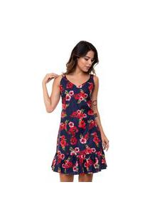 Vestido Aura Curto Tecido Floral