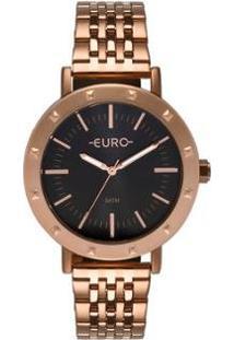Relógio Euro Spike Fever Casual Rosé Feminino - Feminino-Rose Gold