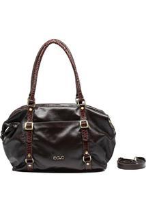 Bolsa De Couro Recuo Fashion Bag Sacola Tabaco/Croco