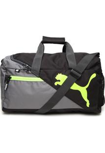 Mala Puma Fundamentals Sports Bag S Preta/Cinza