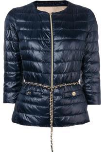 Herno Crop Sleeve Puffer Jacket - Azul