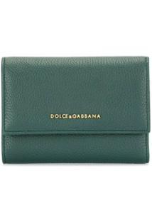Dolce & Gabbana Carteira Pequena De Couro Verde