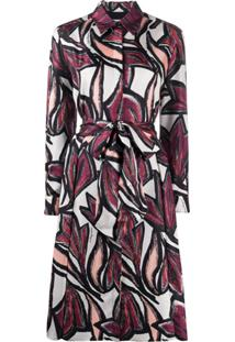 Salvatore Ferragamo Graphic Print Dress - Preto