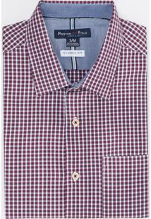 Camisa Manga Curta Social Comfort Xadrez