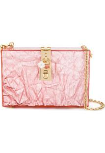 Dolce & Gabbana Bolsa Box Metalizada - Rosa